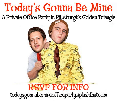 todays gonna be mine office party flyer squareish
