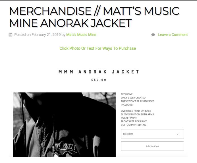 MMM ANORAK JACKETS https://mattsmusicmine.com/2019/02/21/merchandise-matts-music-mine-anorak-jacket/